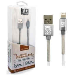 Cable de Datos ROCA Calidad Premium iPhone (Lightning) 2 Metros Forrado