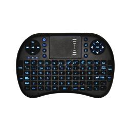 Mini Teclado Inalambrico Ergonomico con Touch Mouse y Teclas Retroiluminadas