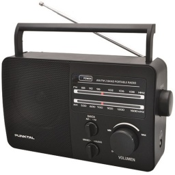 Radio Portatil Punktal PK-96AC AM/FM Pilas y Corriente