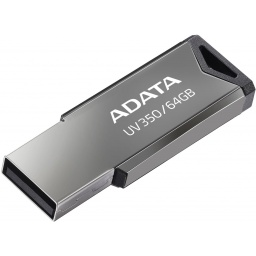Pendrive ADATA UV350 64GB USB 3.2 Negro/Plateado