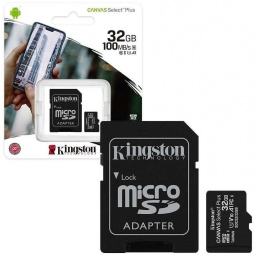Memoria Micro SD Kingston 32GB Clase 10 Con Adaptador