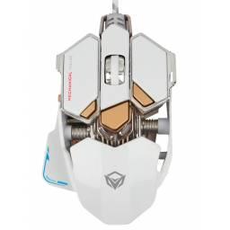 Mouse USB Gamer Meetion MT-M990 Blanco Mecanico Aluminio