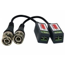 Balun pasivo BNC a UTP (2 unidades) Adaptador Video Coaxil a UTP