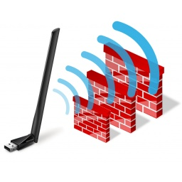 Antena USB Receptor de WiFi Mercusys MU6H de Alta Ganancia AC650 Doble Banda