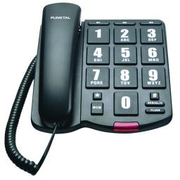 Telefono Fijo Punktal PK-EP3000 de Numeros Grandes Cableado