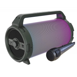Parlante Portatil Avenzo AV-SP3301B Bazooka 18W Bluetooth USB microSD Luces LED y Micrófono incorporado