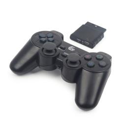 Joystick Inalambrico Compatible para PlayStation 3, 2 y para PC Computadoras Double Shock - Negro