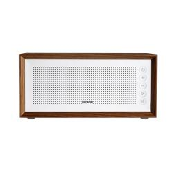 Parlante Portatil Premium Denver BTS-210 Bluetooth Manos Libres Radio FM microSD USB MP3 Estética Minimalista - Blanco