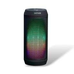 Parlante Portatil Denver BTL-62 LED RGB Bluetooth Radio FM MP3 AUX Efectos de Luces