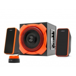 Parlantes Gamer Multilaser Warrior SP266 Home 2.1 50w RMS Reales Woofer 6.5''