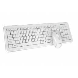 Combo Teclado y Mouse inalambrico Meetion MT-C4120 Slim Nuevo Diseño - Blanco