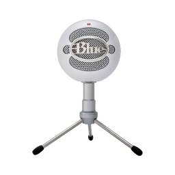 Micrófono Blue Snowball Profesional Ideal Para Streamer USB - Blanco