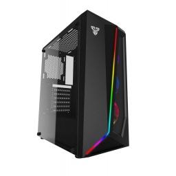 Gabinete Gamer Fantech CG71 PULSE RGB Lateral de Vidrio Templado (Sin Fuente) - Negro