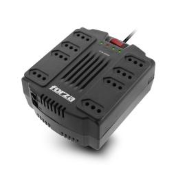 Zapatilla y Regulador de Voltaje Forza FVR-1202C con Proteccion de Sobretension 8 Tomas (Tres en Línea)