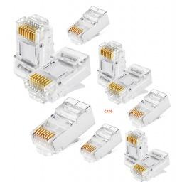 Fichas Conector rj45 Cat6 Para Cables de Red - Bolsa x10 Unidades