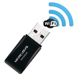 Mini Adaptador USB Inalambrico WiFi Mercusys MW300UM 300Mbps