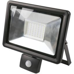 Foco LED 50W Exterior IP65 220v con Sensor Movimiento - Luz Cálida