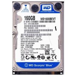 Disco Duro Sata 160 GB 2.5'' Para Notebook / Netbook Refabricados Varias Marcas