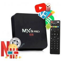 TV Box MXQ 4K Android 7.1 Quad Core 2GB 16GB HDMI WiFi Control