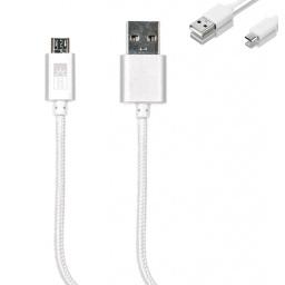Cable de Datos ROCA microUSB (Cordón) Forrado Calidad Premium