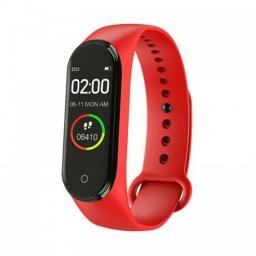 Reloj Inteligente Smart Watch Wrist Band con Bluetooth - Rojo