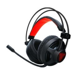 Auricular Gamer Fantech Chief HG13 Led Rojo 3.5mm+USB PC PS4 - Negro