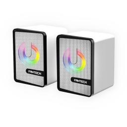 Parlantes USB Gamer Fantech Beat GS203 con Efectos RGB - Space Edition (Blanco)