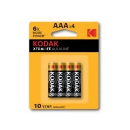 Pilas Alcalinas Kodak Xtralife 1.5V AAA Blister X4 Unidades