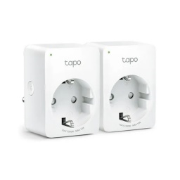 Enchufe Inteligente Smart Wifi TP-Link Tapo P100 Controla los Dispositivos por Voz y App y Ahorra energía - Kit x2 Unida