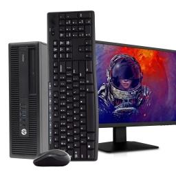 PC Gamer HP Pro Core i7-6700 16GB DDR4 512GB SSD + Tarjeta de Video GeForce GT710 2GB + Monitor LCD 22''