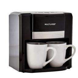 Cafetera Eléctrica Gourmet Multilaser BE010 Filtro permanente semiautomático 2 Tazas - Negra