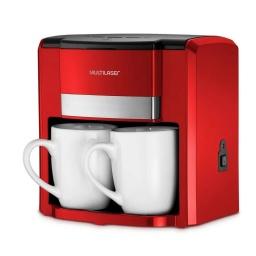Cafetera Eléctrica Gourmet Multilaser BE016 Filtro permanente semiautomático 2 Tazas - Roja