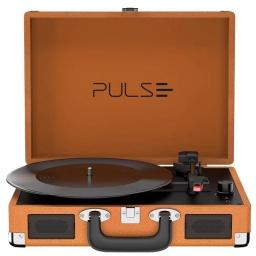 Victrola Tocadiscos Retro Pulse SP364 Con Parlantes Entrada Aux Bluetooth Diseño Retro con Valija