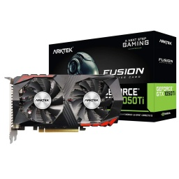 Tarjeta de Video ARKTEK Nvidia GeForce GTX 1050TI 4GB DDR5 128bits Dual Fan Gamer DVI/HDMI/D-PORT
