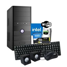 Pc Computadora Nueva INTEL Dual Core N3060 8GB 120GB SSD + 500GB HDD + Perifericos y WiFi