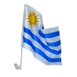 Bandera de Uruguay para Auto 44x30 cm. de Tela