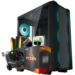 PC Gamer TT V250 ARGB Ryzen 7 5800X 16GB DDR4 M2 1TB + HDD 2TB con Video GTX 1660Ti 6GB DDR6
