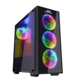 Gabinete Gaming Redragon GC601 Pro 4 Fanes RGB Con PSU Cover (Sin fuente)