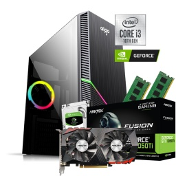 PC Computadora Intel Core i3-10105F 8GB Ram DDR4 1TB HDD con Video GTX1050TI 4GB