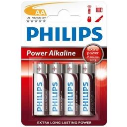 Pilas Alcalinas PHILIPS Power Life 1.5V AA Blister X4 Unidades