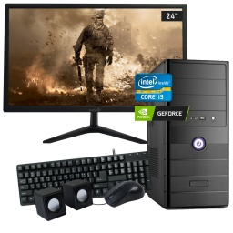 Pc Gamer Completa Nueva Low Cost Core i3-2100 8GB 240GB SSD GeForce GT730 4GB + Monitor LED Full HD 24''