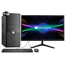 Pc Computadora Nueva INTEL Dual Core N3060 8GB 120GB SSD + 320GB HDD WiFi Win10 + Monitor Nuevo LED HP 19''