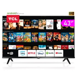 Smart TV TCL 40S65A 40'' Full HD HDR Android TV Google Play Ultra Delgado WiFi y Bluetooth
