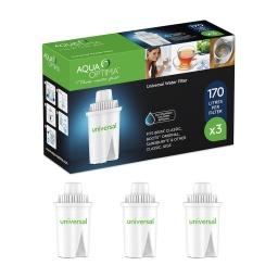Pack Kit de 3 Filtros de Agua Aqua Optima Universales RUF303