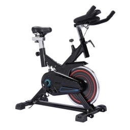 Bicicleta Ergométrica Spinning Profesional Resistente 150Kg. con Pantalla LCD Asiento regulable