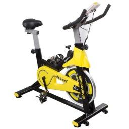 Bicicleta Fija Ergométrica Spinning Profesional 120Kg. con Pantalla LCD Asiento regulable
