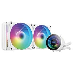 Water Cooling Refrigeracion Líquida Kit DarkFlash DX240 ARGB INTEL / AMD - Blanco