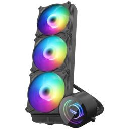 Water Cooling Refrigeracion Líquida Kit DarkFlash DX360 ARGB de 3 Fanes INTEL / AMD - Negro