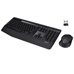 Combo Kit Teclado y Mouse inalambrico Logitech MK345 Cómodo y Batería Prolongada