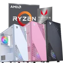 PC Computadora Gamer AMD Ryzen 5 5600G 6 Núcleos 16GB DDR4 240GB SSD Gráficos AMD Vega 7 Gabinete CG-76 Colores